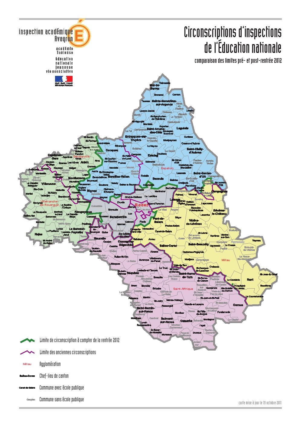 ECOLES PUBLIQUES DE L'AVEYRON ET NOUVELLES CIRCONSCRIPTIONS   SNUipp Aveyron